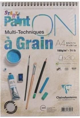 Clairefontaine Paint-On A Grain A-4 Cm Çizim Blok 160 Gr Resim Pd966418