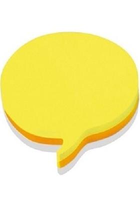 Hopax Stickn Yapışkanlı Not Kağıdı Şekilli 70X70 Mm Balon Sarı 50 Yaprak 4-2154400-5001