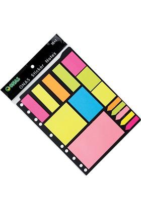 Onas Yapışkanlı Not Kağıdı Karışık Set 10+1
