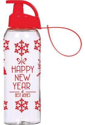 Solmazer 0,50 Lt Askılı Happy New Year Desenli Matara 161415-270
