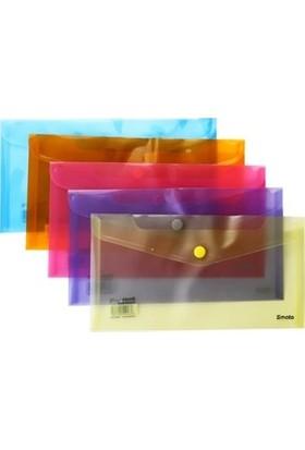 Smato Çıtçıtlı Evrak Zarfı 13X25 Cm Turuncu W1845-2 10 Lu (1 Paket 10 Adet)