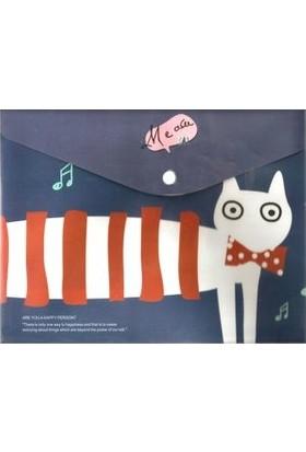 Taros Çıtçıtlı Dosya Cats 12 Li (1 Paket 12 Adet)