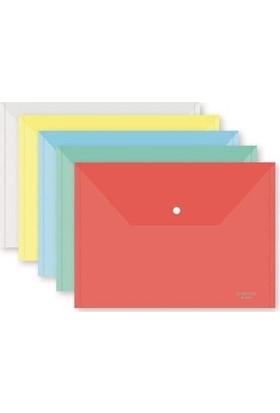 Vtk Çıtçıtlı Dosya Renkli Şeffaf 12 Li (1 Paket 12 Adet)