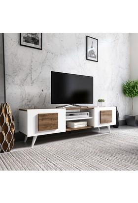 Evmonte Crazy Tv Ünitesi Beyaz Ceviz 1062