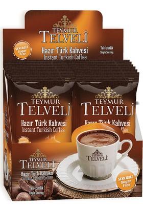 Teymur Telveli Şekersiz Hazır Türk Kahvesi (12 Adet Hazır Kahve)
