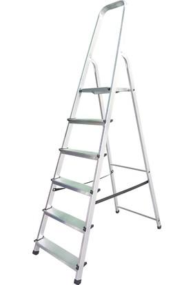 Cömert 6 Basamaklı Bükümlü Alüminyum Merdiven