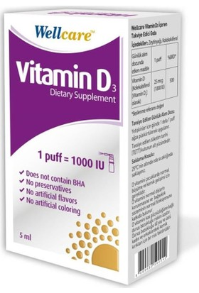 Wellcare Vitamin D3 1000 IU - 5 ml