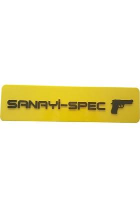 Boostzone Sanayi-Spec Dekor Sarı Plaka