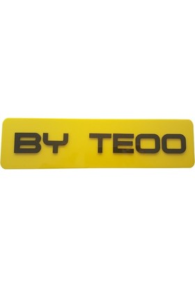 Boostzone By Teoo Dekor Sarı Plaka