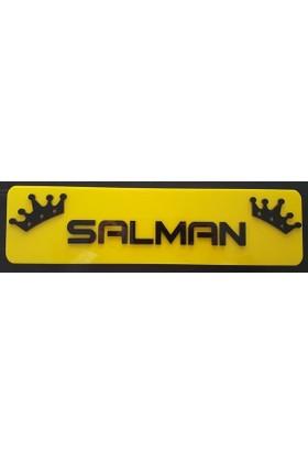 Boostzone Salman Dekor Sarı Plaka