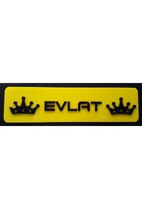 Boostzone Evlat Dekor Sarı Plaka