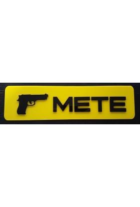 Boostzone Mete Dekor Sarı Plaka