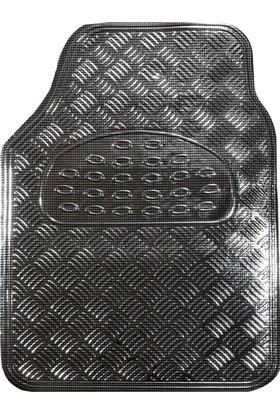 Knk Üniversal Paspas Krom Karbon 4 Parça Siyah Renk
