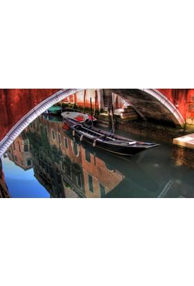 Yaylera Venedik Gondol Şehir Kanvas Tablo 50*70 cm