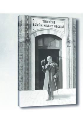 Yaylera TBMM Atatürk Kanvas Tablo 50*70 cm