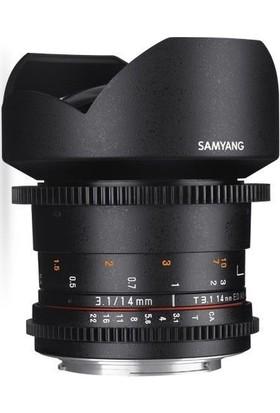 Samyang Vdslr 14Mm T3.1 Ed As If Umc Canon Uyumlu Lens