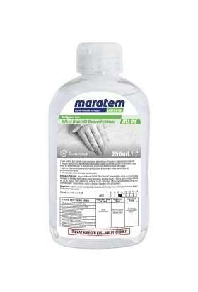Maratem M105 Alkol Bazlı El Dezenfektanı 250ml
