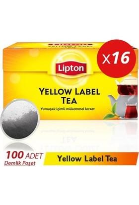 Lipton Yellow Label Demlik Poşet Çay 100lüx16 Adet