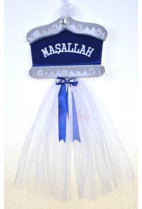 Can Sünnet Şapkası Şeklinde Sünnet Kapı Süsü Lacivert ( 40 * 100 cm )