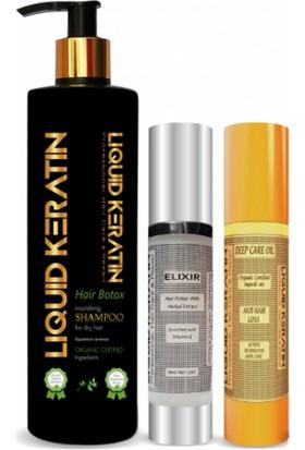 Liquid Keratin Saç Dökülmesine Karşı - Saç Dökülmesini Önleyici Saf Keratinli Dökülme Seti