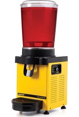 Samixir M10 Soğuk İçecek Dispenseri, 10 L, Analog, Panaromik, Sarı