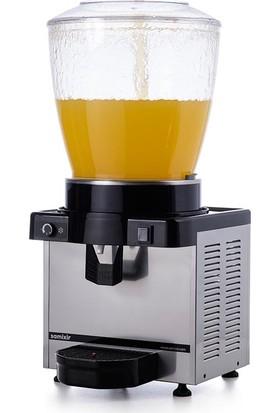 Samixir S22 Soğuk İçecek Dispenseri, 22 L, Analog, Panaromik, Inox