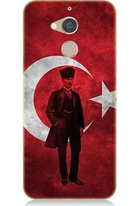 Teknomeg General Mobile Gm8 Mustafa Kemal ATATÜRK Desenli Tasarım Silikon Kılıf