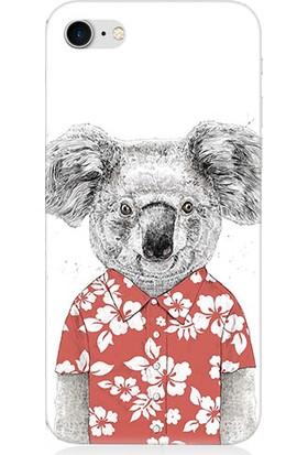 Teknomeg Apple iPhone 7 Sevimli Koala Desenli Tasarım Silikon Kılıf