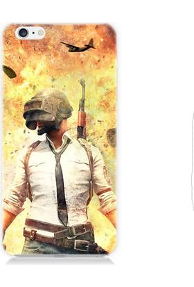 Teknomeg Apple iPhone 6s Pubg Savaşçı Desenli Tasarım Silikon Kılıf