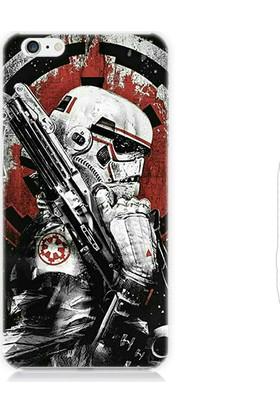 Teknomeg Apple iPhone 6s Star Wars Storm Trooper Ve Silah Desenli Tasarım Silikon Kılıf