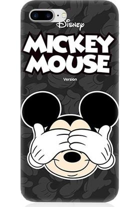 Teknomeg Apple iPhone 7 Plus Mickey Mouse Desenli Tasarım Silikon Kılıf