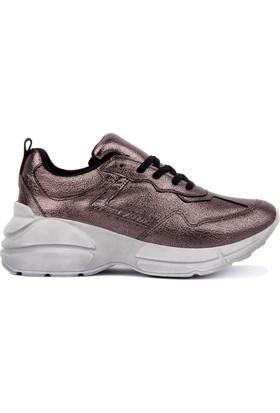 Moxee Platin Bağcıklı Kadın Günlük Ayakkabı