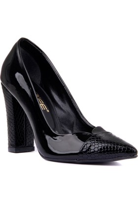 Moxee Siyah Kadın Topuklu Ayakkabı