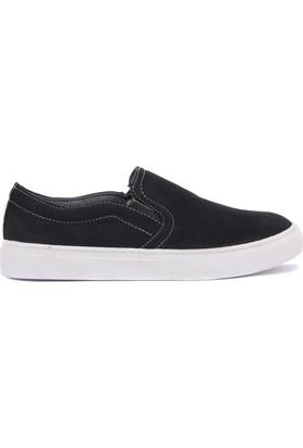 Moxee Siyah Keten Kadın Günlük Ayakkabı