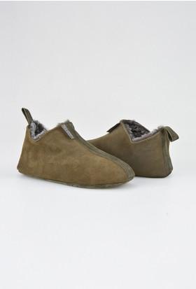 Pegia Hakiki Süet İçi Kürk Kadın Ev Ayakkabısı 191094