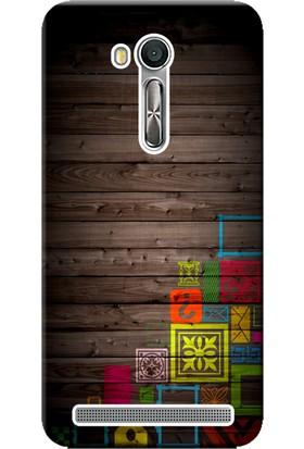 Kılıf Merkezi Asus Zenfone GO Kılıf 5.0inç X00AD-ZB500KL Silikon Baskılı Tahta Figürler STK:125