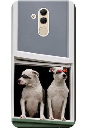 Kılıf Merkezi Huawei Mate 20 Lite Kılıf SNE-LX1 Silikon Baskılı Artist Köpekler STK:473