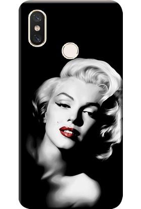 Kılıf Merkezi Xiaomi Redmi Note 5 Kılıf Silikon Baskılı Marilyn Monroe STK:614