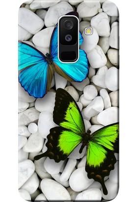 Kılıf Merkezi Samsung Galaxy A6 Plus Kılıf SM-A605F Silikon Baskılı Kelebekler STK:148