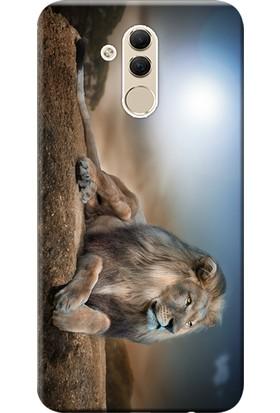 Kılıf Merkezi Huawei Mate 20 Lite Kılıf SNE-LX1 Silikon Baskılı Aslan Kral STK:177