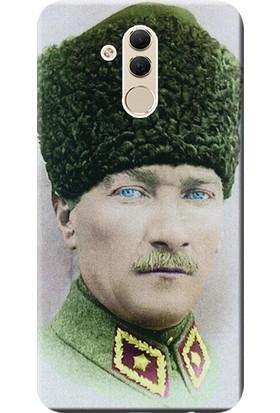 Kılıf Merkezi Huawei Mate 20 Lite Kılıf SNE-LX1 Silikon Baskılı Mustafa Kemal Atatürk STK:392