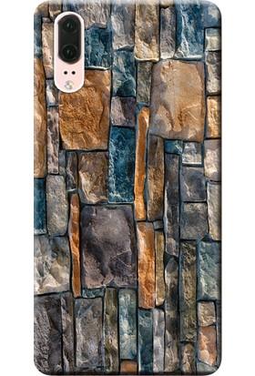 Kılıf Merkezi Huawei P20 Kılıf EML-L09 Silikon Baskılı Taş Duvar STK:233