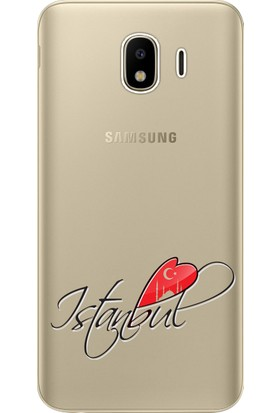 Kılıf Merkezi Samsung Galaxy J4 Kılıf SM-J400F Silikon Baskılı İstanbul STK:351