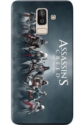 Kılıf Merkezi Samsung Galaxy J8 Kılıf SM-J810F Silikon Baskılı AssassinCreed STK:161