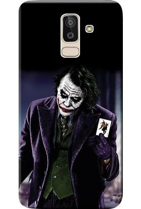 Kılıf Merkezi Samsung Galaxy J8 Kılıf SM-J810F Silikon Baskılı Joker STK:599