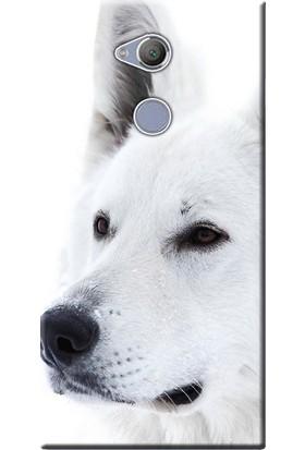 Kılıf Merkezi Sony Xperia XA2 Kılıf Silikon Baskılı Beyaz Kurt STK:169