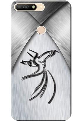 Kılıf Merkezi Huawei Y6 2018 Kılıf (ATU-L21) Silikon Baskılı Semazen Tasarım STK:434