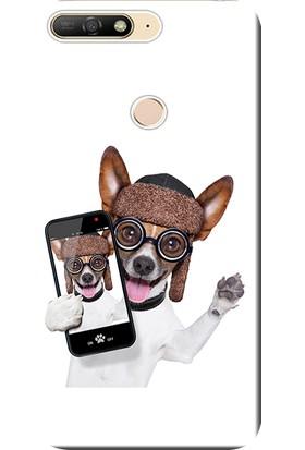Kılıf Merkezi Huawei Y7 Prime 2018 Kılıf (LDN-L21) Silikon Baskılı Sevimli Köpek STK:451