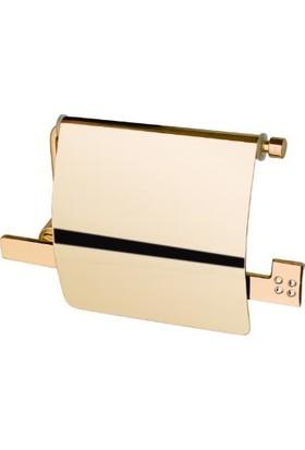 Dekor Golden Cristal Kapaklı Tuvalet Kağıtlığı