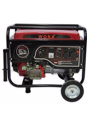Wora Monofaze 7.5 Kva Marşlı Ve İpli Benzinli Jeneratör